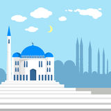Mosque on the background of islamic city Royalty Free Stock Image