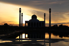 The mosque. Beautiful light and shadow on sunset at songkhla mosque thailand Royalty Free Stock Photos