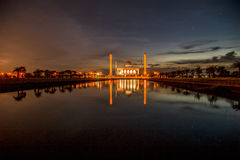 Mosque. Beautiful sunset at central mosque Hatyai Songkhla Thailand royalty free stock photos