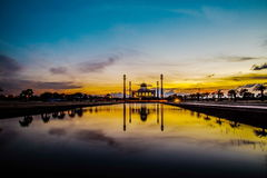 Mosque. Beautiful sunset at  central mosque Hatyai Songkhla Thailand Stock Images