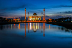 Mosque. Beautiful sunset at  central mosque Hatyai Songkhla Thailand Royalty Free Stock Image