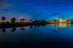 Mosque. Beautiful sunset at  central mosque Hatyai Songkhla Thailand Stock Photo