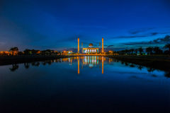 Mosque. Beautiful sunset at  central mosque Hatyai Songkhla Thailand Royalty Free Stock Photography