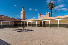 Mosque in berber town Tamergoute Stock Photography