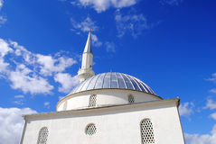 Mosque and blue sky. Mosque and beautiful blue sky Royalty Free Stock Photo