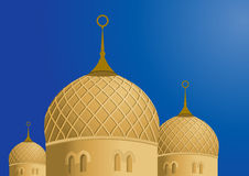 Mosque and Blue Sky - Vector Royalty Free Stock Images