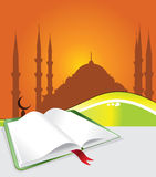 Mosque and books Royalty Free Stock Photography