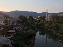 Mosque in Mostar. Mosque in Bosnia and herzegovina Royalty Free Stock Images