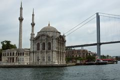 Mosque on Bosphorus Royalty Free Stock Images