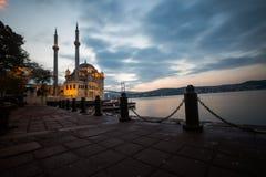 Mosque and the Bosphorus Bridge Royalty Free Stock Photos