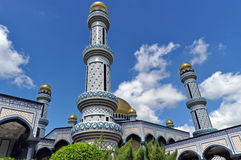 Mosque in Brunei. Jame'Asr Hassanil Bolkiah Mosque in Brunei Royalty Free Stock Photography
