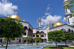 Mosque in Brunei. Jame'Asr Hassanil Bolkiah Mosque in Brunei Royalty Free Stock Photo
