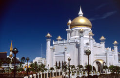 Mosque in Brunei Darussalam. Omar Ali Saifuddien Mosque in the capital of Brunei Royalty Free Stock Photo