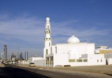 Mosque and burj khalifa. Mosque and dubai skyline with burj khalifa, now burj dubai Royalty Free Stock Photography