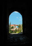 Mosque at Byblos, Lebanon. A mosque viewed from the Crusaders Castle of Byblos (Lebanon), the oldest continuously-inhabited city in the world stock photos