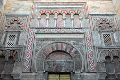 Mosque of Córdoba (detail). Building has been declared a World Heritage Site along with the historic center of Cordoba was begun in 785 on the site of the stock image