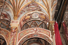 Mosque of Córdoba (detail). Building has been declared a World Heritage Site along with the historic center of Cordoba was begun in 785 on the site of the stock photos