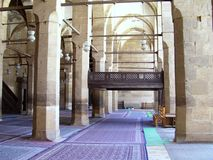 Mosque in cairo. Courtyard and arcade at mosque of al-hakim in cairo egypt Stock Image