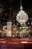 Mosque in Cairo. Religious inside the mosque in Cairo, Egypt Royalty Free Stock Photos