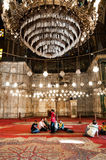 Mosque in Cairo. Religious inside the mosque in Cairo, Egypt Stock Image