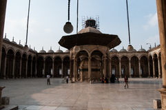 Mosque in Cairo. Religious inside the mosque in Cairo, Egypt Royalty Free Stock Photography
