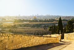Mosque of Caliph Omar  in Jerusalem . Stock Photo