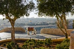 Mosque of Caliph Omar  in Jerusalem . Royalty Free Stock Image