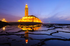 Mosque in Casablanca. Hassan II Mosque during the sunset in Casablanca, Morocco Royalty Free Stock Photo
