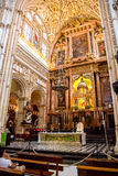 Mosque / Cathedral of Córdoba, The altar Royalty Free Stock Photo