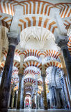 Mosque / Cathedral of Córdoba - arches Royalty Free Stock Images