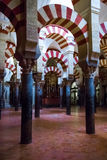 Mosque / Cathedral of Córdoba - arches Stock Image