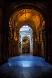 Mosque / Cathedral of Córdoba - arches Stock Photography