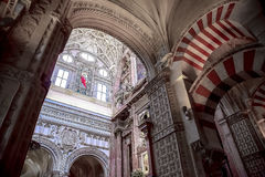 Mosque / Cathedral of Córdoba - ceiling decoration Royalty Free Stock Photography