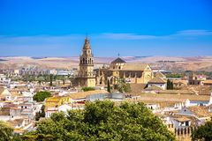 Mosque / Cathedral of Córdoba and the old part of town. Photograph of The Mosque – Cathedral of Córdoba and the old part of town, Andalusia, Spain Royalty Free Stock Photography