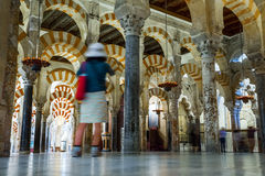 Mosque / Cathedral of Córdoba touristic atraction. Photograph of an interiour of Mosque – Cathedral of Córdoba- mixture between diferent architectonic styles Stock Images