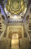 The Mosque-Cathedral of Cordoba interior in Spain Stock Photography