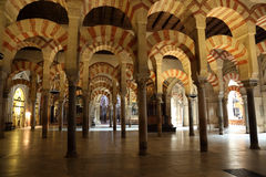 Mosque-Cathedral in Cordoba, Spain. Interior of the medieval Mosque-Cathedral in Cordoba, Andalusia Spain Royalty Free Stock Photography