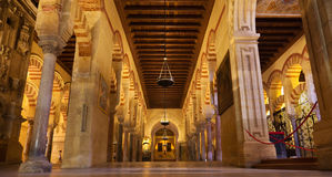 Mosque-cathedral of Cordoba, Spain. Corridor inside Mezquita of Cordoba Stock Image