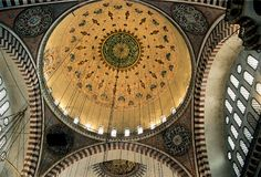 Mosque ceiling. Istanbul, Turkey royalty free stock photo