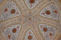 Mosque ceiling bolu. Bolu little mosque Stock Photos