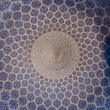 Mosque ceiling. Cyan ceiling of an historic iranian mosque Royalty Free Stock Image