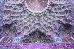 Islamic Architecture. Ceiling of a historic Iranian mosque Royalty Free Stock Photos