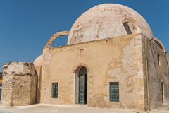 Mosque in Chania royalty free stock photo