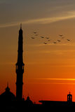 Mosque with church represent peace in cairo in egypt in africa Stock Photography