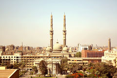 A mosque and church. A mosque side by side with a church Royalty Free Stock Image