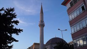 Mosque in Turkey. The mosque in the city of Alanya, in Turkey. Appeal of a medzim stock video footage