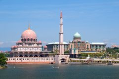 A mosque in a clear day Stock Photos