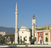 Mosque And Clock Tower In Tirana Stock Image