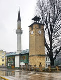 Mosque and Clock tower  in Travnik. Bosnia and Herzegovina Stock Photography