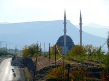 The mosque close-up near the road in Turkey, Stock Photo